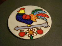 Round Rooster Wall Plaque