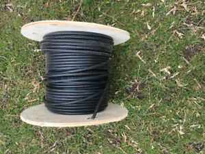 Partial spool koax cable