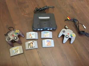 Nintendo 64 with 5 games and 2 controller