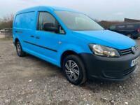 2015 VW Caddy 1.6 Tdi (102PS) Maxi LWB C20 Blue 1 Owner Air/Con F/S/H Clean Van