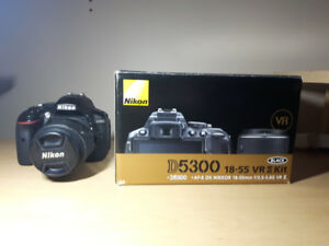 NIKON D5300 & 18-55mm LENS - LIKE NEW DSLR