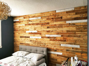 WOOD FEATURE WALLS, Reclaimed Wood Panelling - DIY Ready! Kitchener / Waterloo Kitchener Area image 7