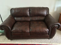 100% leather Sofa and love seat