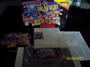 TETRIS AND DR MARIO SUPER NINTENDO GAME SNES COMPLETE IN BOX 1ST