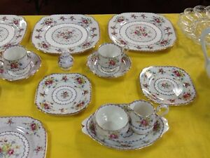 21 pieces of royal albert petit point dishes