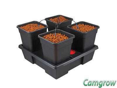 Pot Dripper-system (Wilma V2 - Large 75x75cm - 4 x 11 Litre Pot Dripper System Hydroponics)
