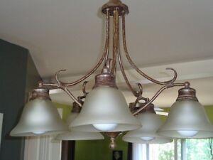 Lampe suspendue fini bronze antique