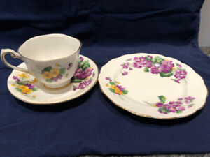 Royal Standard tea cup, saucer and side plate