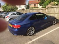 Bmw 335i coupe , rare orange brown leather , m3 front and side skirts