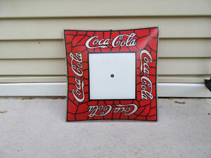 Coca Cola Patterned Ceiling Light Shade Mimics Stained Glass