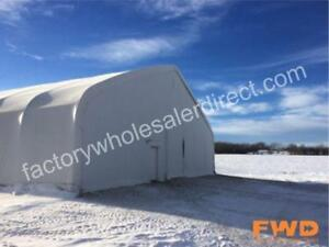 New 40-80' Wide Coverall Fabric Buildings Keep Your Assets Safe with This High Quality Budget Solution