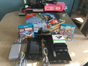 Wii u with 5 games