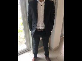 M & S Slim Fit Charcoal 2 Piece Suit