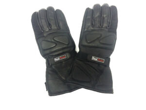 Genuine Leather Men's Motorcycle Bikers Riders Leather Gauntlets