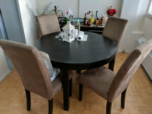 Bjursta Ikea Dining Table and Hutch for Sale - Moving Sale