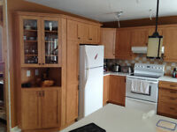 Maple oak Malamine kitchen cabinets with counter tops