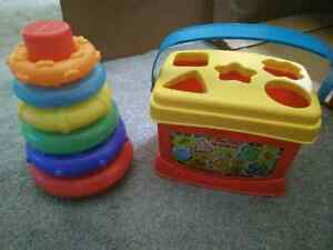 Fisher-Price shape sorter and ring stacker