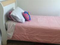 Girls White Bed and mattress