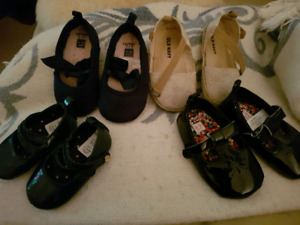 Shoes...2 new 2 euc 6 - 18 mos girls