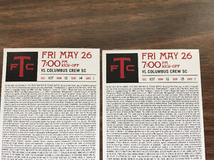 Toronto FC game - May 26 - Centre Field 107 Row 12- DISCOUNTED