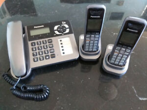 Panasonic cordless phone system (Dect 6.0) with base