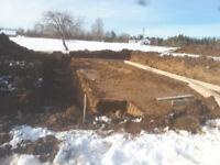 New Home Excavation, Septic System, Gravel, Topsoil, landscape