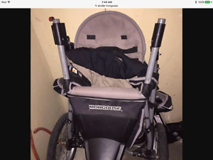 3 WHEEL MONGOOSE STROLLER EXCELLENT CONDITION