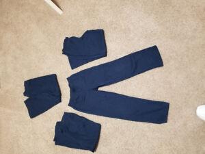 4 Uniform Pants - Navy- Girls - Medium 7/8 size
