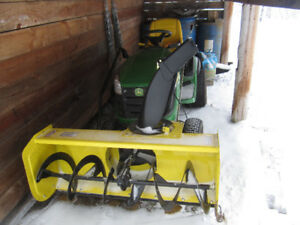 Snowblower attachment for John Deere