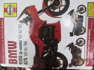 BMW K100 & K75 Motorcycle Service & Repair Manual Haynes