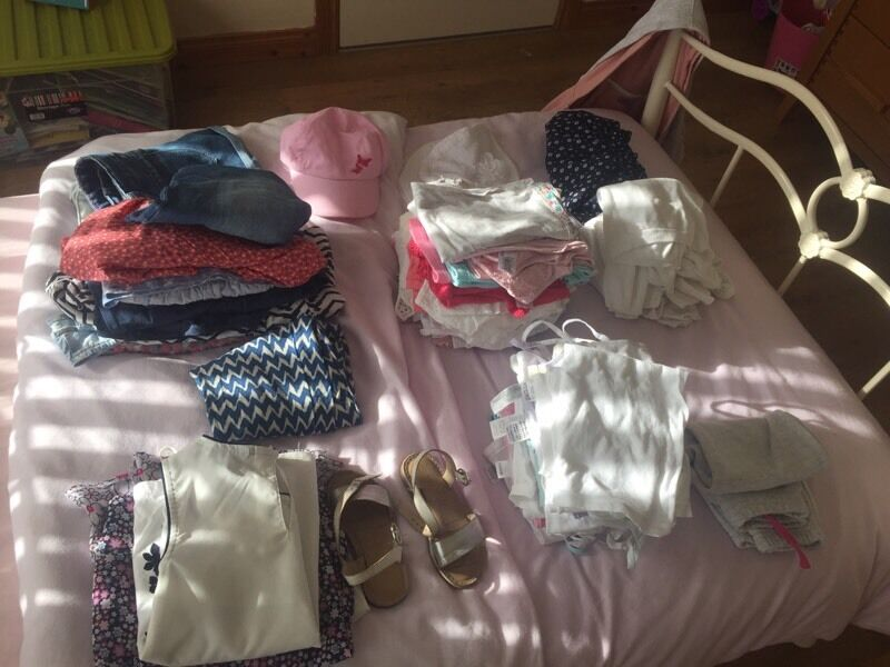 Job lot / bundle of girls clothes aged 4-5 years