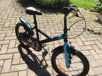 Kid's first bike - Decathlon Pirate -with stability bar and stabilisers