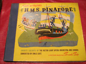 H.M.S. PINAFORE soundtrack on 78 rpm records Kitchener / Waterloo Kitchener Area image 1