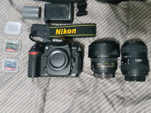 Nikon D200 with lenses and bag