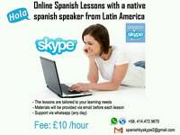 Online Spanish lessons with a native spanish speaker from Latin America