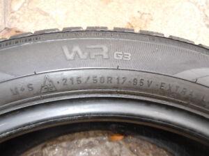 Pneus d'hiver Nokian WR-G3       (17 pouces )