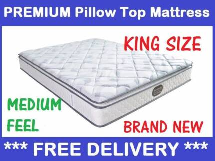 KING Size Bed Mattress PREMIUM Pillow Top NEW - DELIVERED FREE