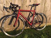 Raleigh Militis C4 men's road bike, carbon forks, 55cm