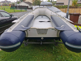 Honwave t40 rib boat and trailer