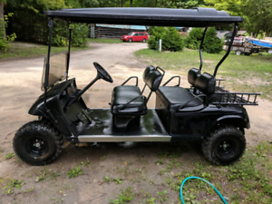 4 seater golf cart limo