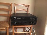 Qsc rmx 1450+ 2450 pro power amplifiers