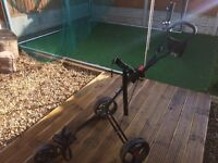 3 wheel golf trolley