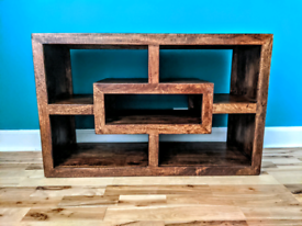 Dark wood TV unit / sideboard