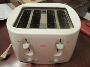 Sunbeam® 4-Slice Toaster, White - Wide for bagels