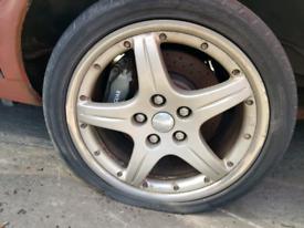 18 inch Bbs milano Xjr jaguar alloys wheel rim with tyre