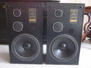 PAIR OF TWO, 3 WAY PHILIPS TOWER SPEAKERS (READ)