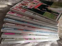 9x Brides and wedding magazines