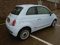 2009 (59) FIAT 500 1.2 LOUNGE GLASS ROOF AIR CON 40,000 MILES 1 OWNER