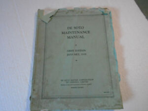 Desoto maintenance Manual First edition 1935