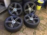 Bmw alloy wheels with great nankang tyres 18'